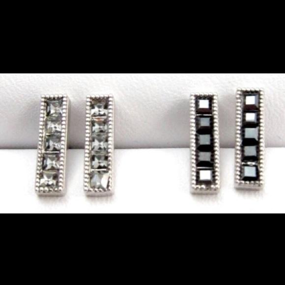 Jessica Elliot Jewelry - Swarovski Crystal Bar Studs